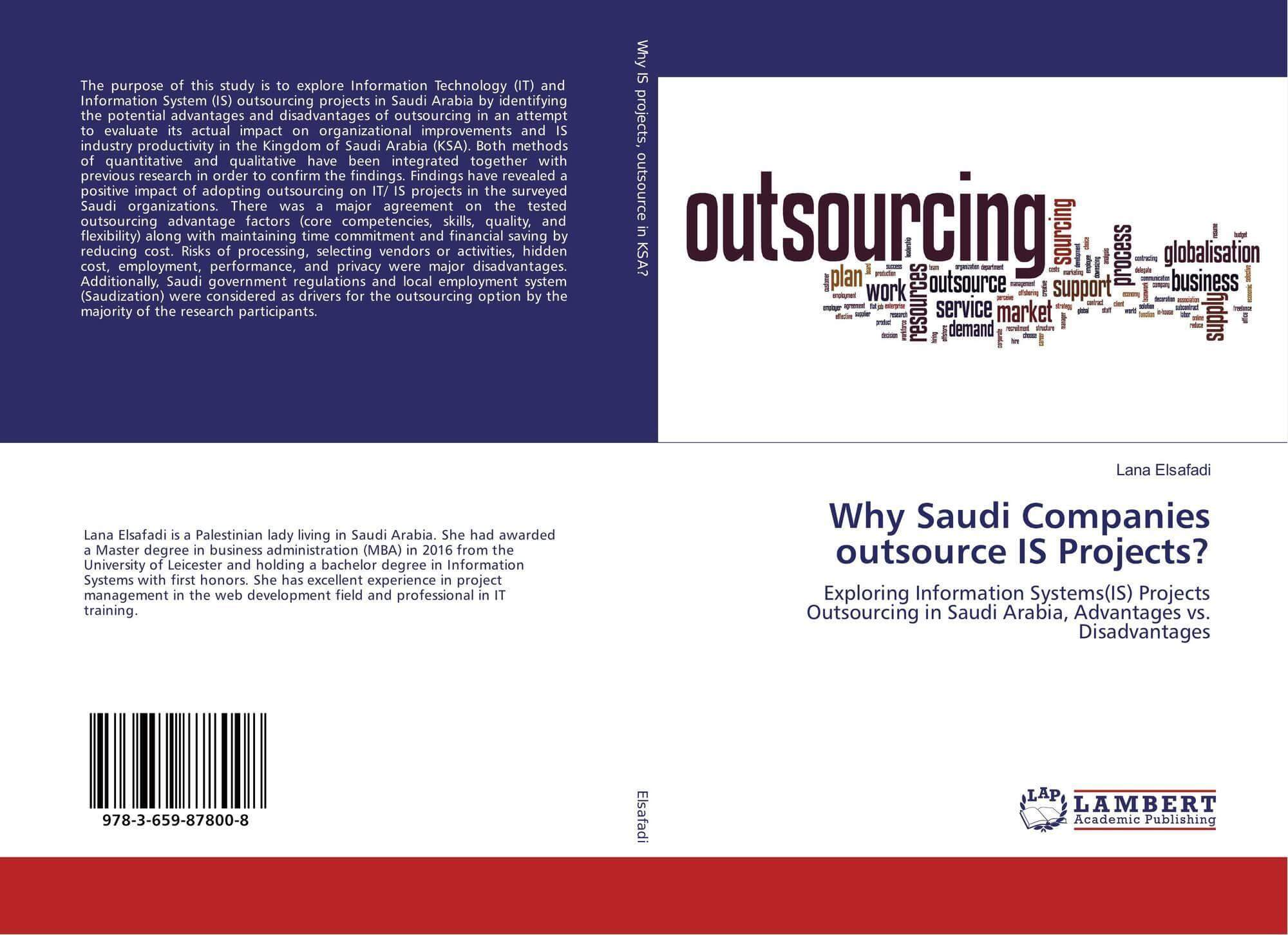 My Book: Why Saudi Companies Outsource IS Projects?