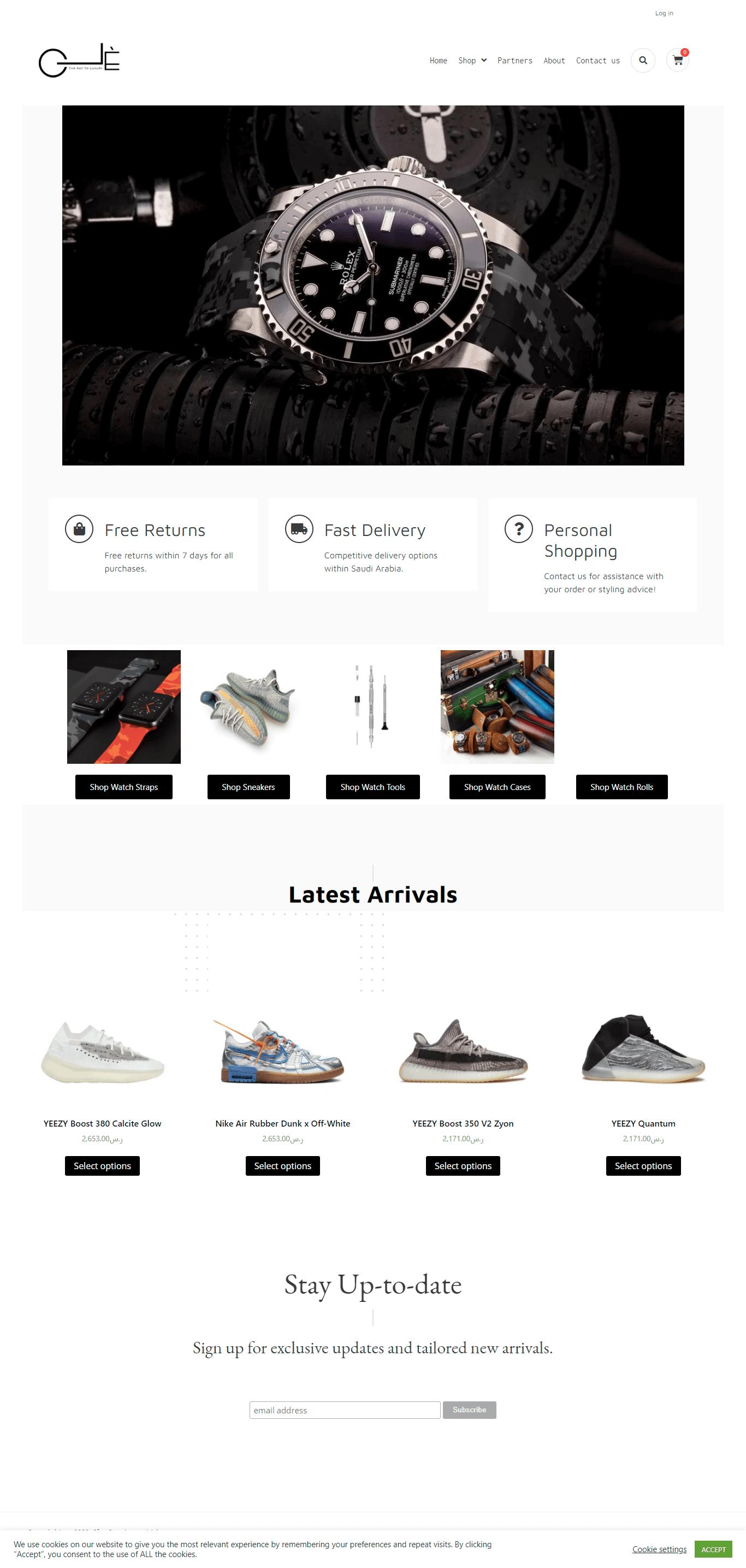Cle Concierge E-commerce Website